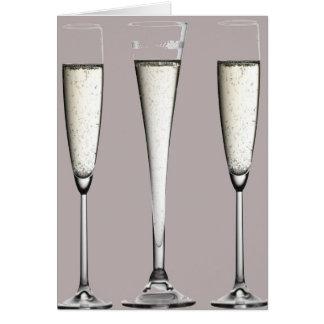 銀製のシャンペンガラス カード