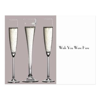 銀製のシャンペンガラス ポストカード