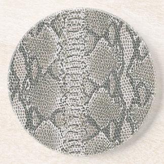 銀製のスネークスキンのコースター コースター