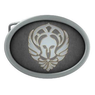 銀製のスパルタ式のギリシャの戦士の黒帯のバックル 卵形バックル