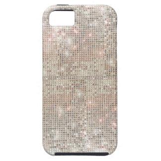 銀製のスパンコールのiPhone 5の堅い場合 iPhone SE/5/5s ケース