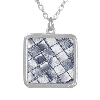 銀製のタイル シルバープレートネックレス