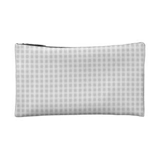 銀製のタンポポのギンガムの点検の格子縞パターン コスメティックバッグ