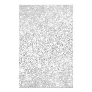 銀製のダイヤモンドのスタイル 便箋