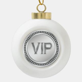 銀製のダイヤモンドVIPのクリスマス セラミックボールオーナメント