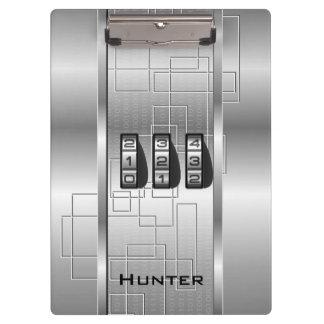 銀製のハイテクなコードロッカー クリップボード