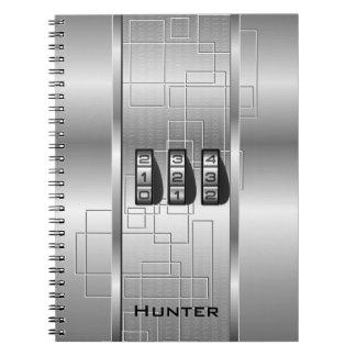 銀製のハイテクなコードロッカー ノートブック