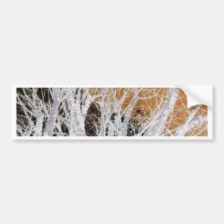 銀製のハンノキ木の芸術 バンパーステッカー