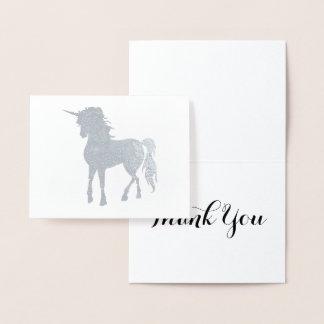 銀製のユニコーンは感謝していしています 箔カード
