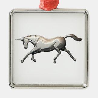 銀製のユニコーン メタルオーナメント