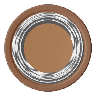 銀製のリングや輪の茶色 ポーカーチップ