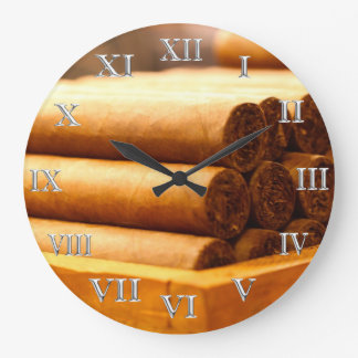 銀製のローマのNume手によってシガーのLaのRomanaの転がられる先生 ラージ壁時計