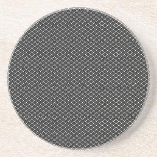 銀製の三角スクリーンパターン コースター