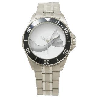 銀製の人魚の尾 腕時計