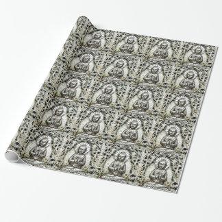 銀製の仏のギフト用包装紙 ラッピングペーパー