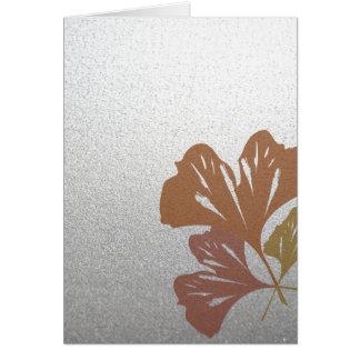 銀製の効果パターンの青銅色のイチョウの葉 カード