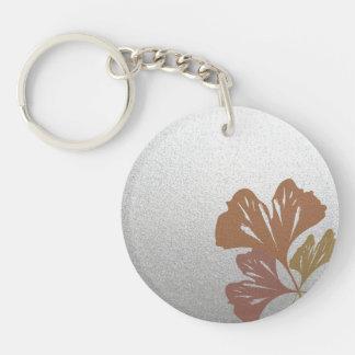 銀製の効果パターンの青銅色のイチョウの葉 キーホルダー