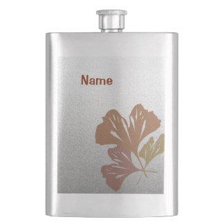 銀製の効果パターンの青銅色のイチョウの葉 フラスク