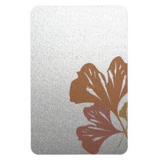 銀製の効果パターンの青銅色のイチョウの葉 マグネット
