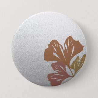 銀製の効果パターンの青銅色のイチョウの葉 缶バッジ