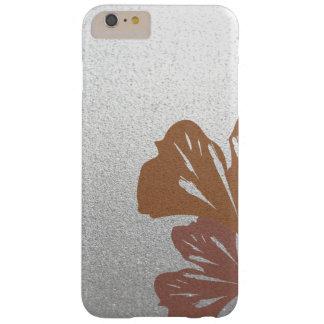 銀製の効果パターンの青銅色のイチョウの葉 BARELY THERE iPhone 6 PLUS ケース