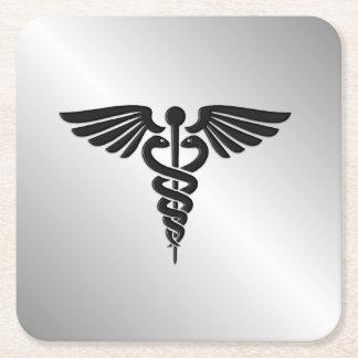 銀製の医学のケリュケイオン スクエアペーパーコースター