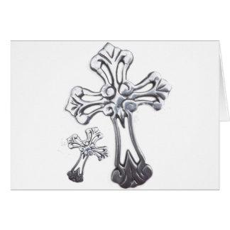 銀製の十字 グリーティングカード