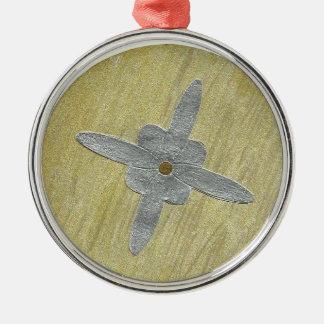 銀製の十字Pr Rのオーナメント メタルオーナメント