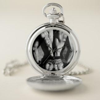 銀製の壊中時計の堅いジーンズのカウボーイ ポケットウォッチ
