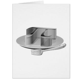 銀製の大皿のPi カード