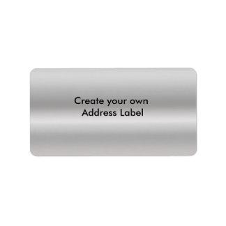銀製の宛名ラベル ラベル