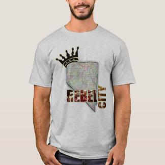銀製の州のネバダ-ラスベガス Tシャツ
