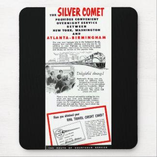 銀製の彗星-海岸の航空路鉄道 マウスパッド