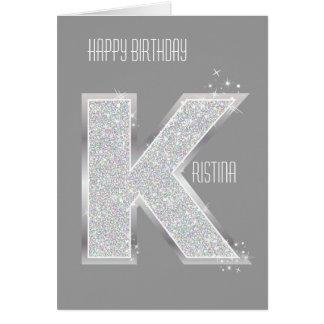 銀製の手紙K カード