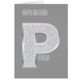 銀製の手紙P カード