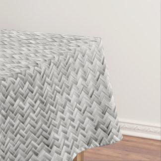 銀製の斜めの斜子織幾何学的なパターン テーブルクロス