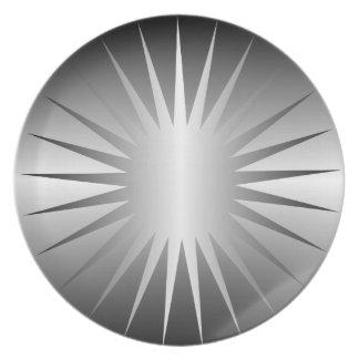 銀製の星のプレート プレート