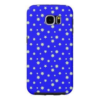 銀製の星パターンが付いている明るいコバルトブルー SAMSUNG GALAXY S6 ケース