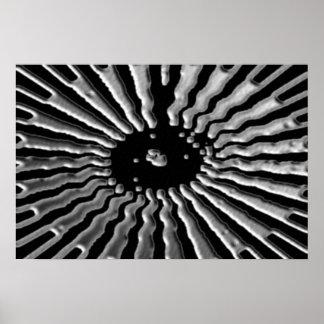 銀製の星-太陽のな網状組織 ポスター