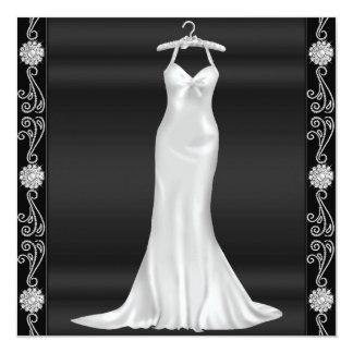 銀製の服の誕生日のパーティの招待状 13.3 スクエアインビテーションカード