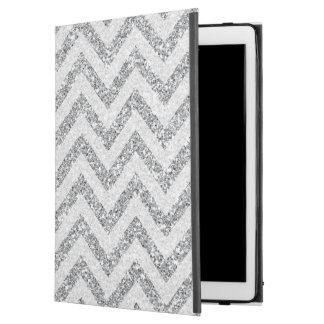 """銀製の模造のなグリッターのiPadのプロ場合のシェブロン iPad Pro 12.9"""" ケース"""
