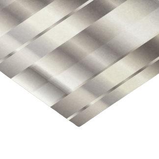 銀製の模造のな金属対角線は縞で飾ります 薄葉紙