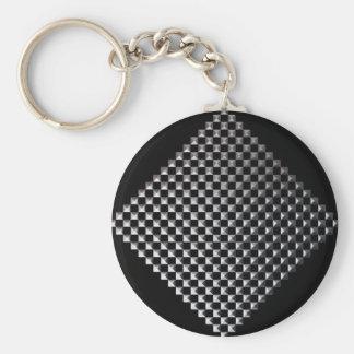 銀製の正方形のKeychain キーホルダー