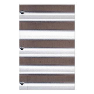 銀製の波形の薄板金 便箋