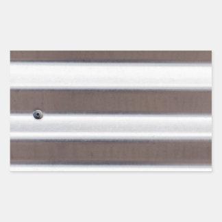 銀製の波形の薄板金 長方形シール