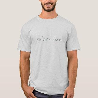 銀製の海のロゴ Tシャツ