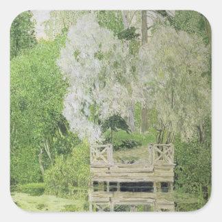 銀製の白いヤナギ1904年 スクエアシール