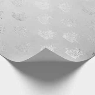 銀製の白黒妖精の灰色のファンタジーのドラゴンの海 包装紙