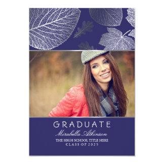 銀製の秋の写真の卒業パーティー-発表 12.7 X 17.8 インビテーションカード