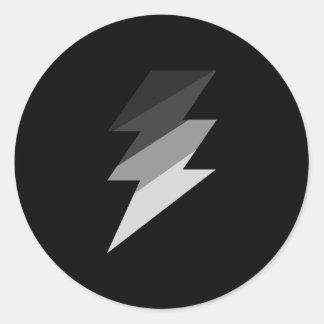 銀製の稲妻の落雷 ラウンドシール